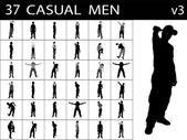 Casual mannetjes staan, vormen — Stockfoto