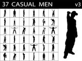 Casual males standing, pose — Stock Photo