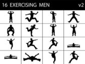 Exercising young males — Foto Stock
