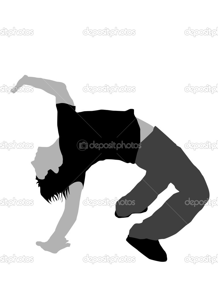 Gymnastics Silhouette Cartwheel Man doing gymnastics on isolated    Gymnastics Silhouette Cartwheel