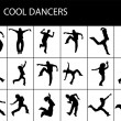 Rock stars in various dance poses — Stock Photo