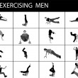 Stock Photo: Exercising young men