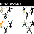 Hip hop dancers — Stock Photo