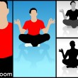 Stock Photo: Illustration of meditating man