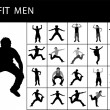 Fit men posing - Stock Photo