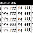 Stock Photo: Young dancing males