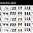Foto Stock: Young dancing males