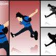 Leaping young man — Stock Photo
