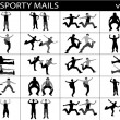 Stock Photo: Sporty mails, illustration