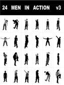 Mladí muži stojící — Stock fotografie