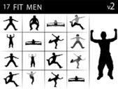 Utöva män — Stockfoto