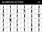 Muži v akci — Stock fotografie