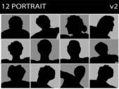 Porträtt av män — Stockfoto
