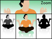Person in meditating pose — Stock Photo