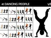 Smart stylish dancers — Stock Photo