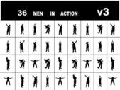 Tränar unga män — Stockfoto