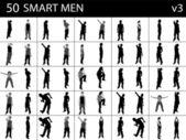 Mladí inteligentní muži — Stock fotografie