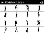 Staande mannetjes in verschillende poses — Stockfoto