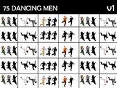 Unga dansande män — Stockfoto