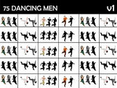 Young dancing males — Foto Stock
