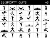 Ausübung smart männer — Stockfoto