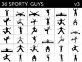 Exercício inteligentes machos — Foto Stock