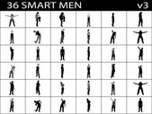 Smart men in various poses — Stock Photo