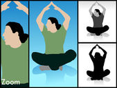 Male mediating with raised arms — Stock Photo