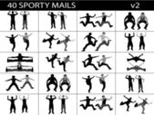 Sporty mails, illustration — Stock Photo