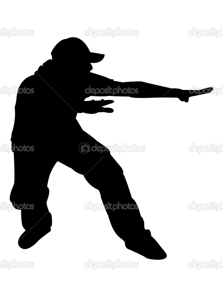Silhouette of male posing — Stock Photo © imagerymajestic ...