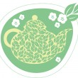 Green jasmine tea — Stockvectorbeeld