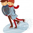 Vector de stock : Figure skaters