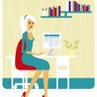 beautiful business lady — Stock Vector