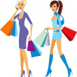 Royalty-Free Stock Vector Image: Shopping girls