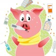 Swine flue — Stock Vector