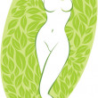 Vector de stock : Beautiful nude woman