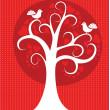 aşk ağacı — Stok Vektör