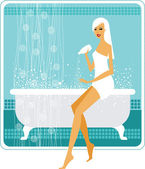 Spa time — Vector de stock