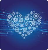 Zimní srdce — Stock vektor