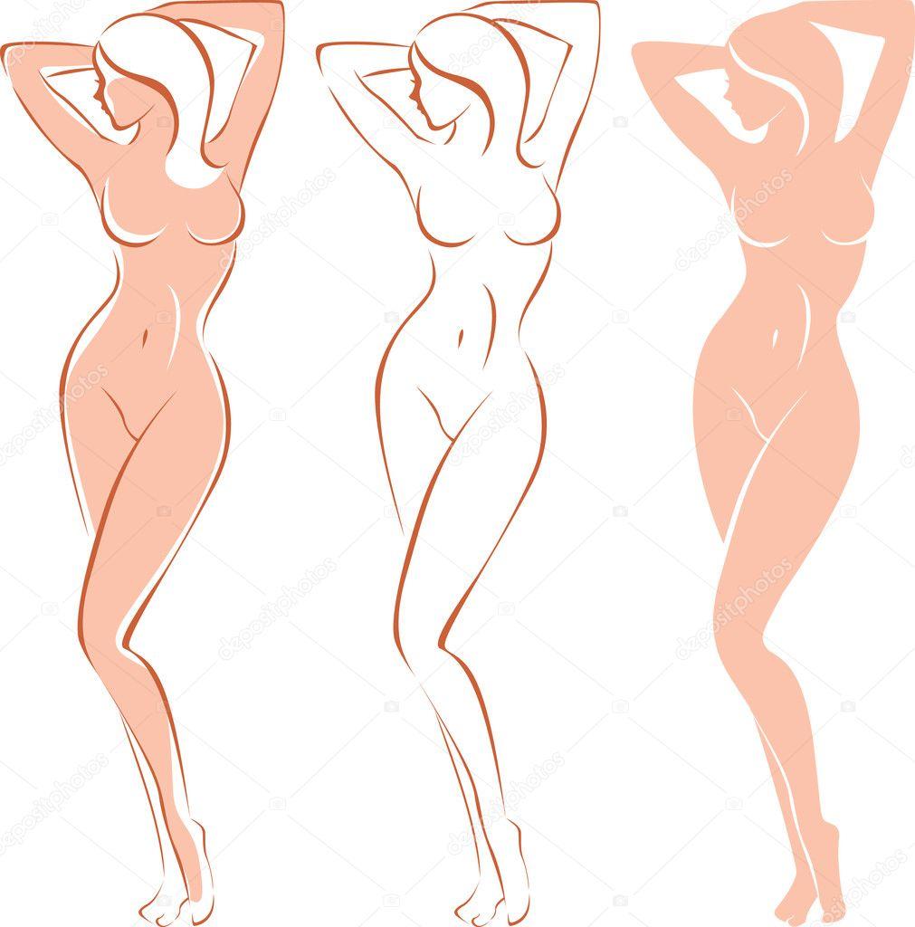 Рисунки обнаженных женских тел 5 фотография