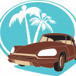 Vintage car — Stock Vector