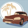 Royalty-Free Stock Vector Image: Vintage car