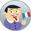 Man from France — Stock Vector