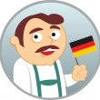 Man from Germany — Stock Vector
