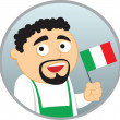 Man from Italy — Stock Vector