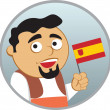 Man from Spain — Stock Vector
