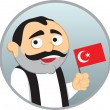 Man from Turkey — Stock Vector