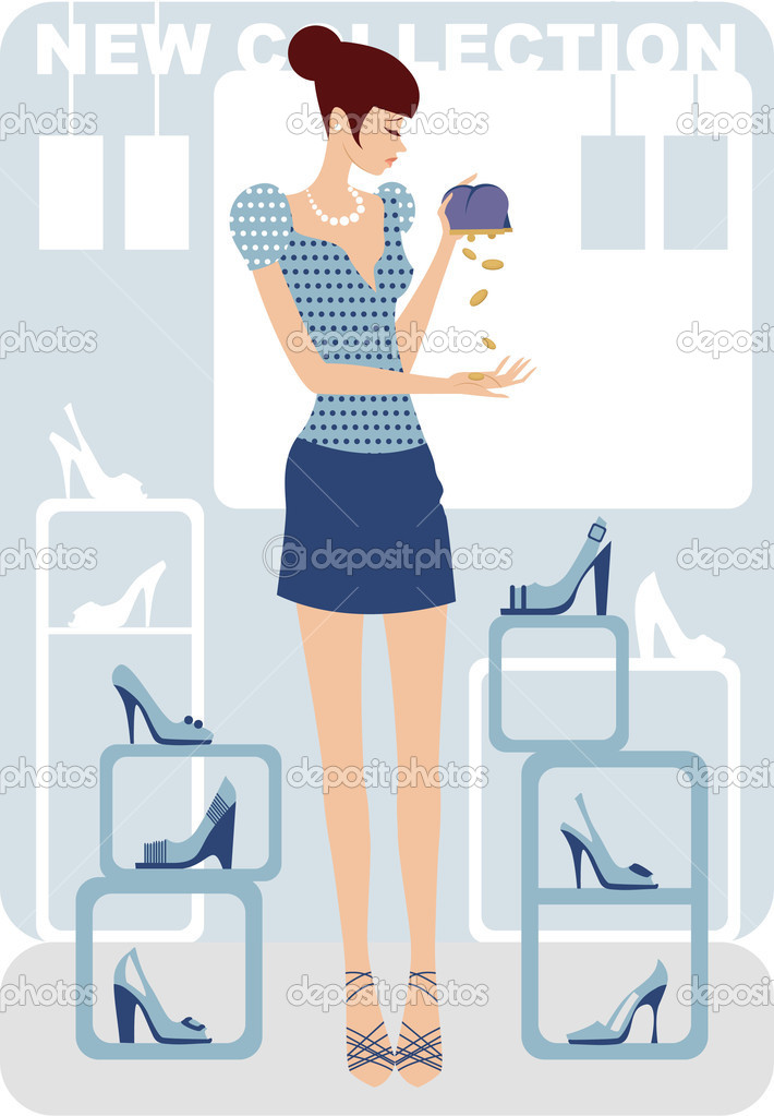 Crisis shopping — Stock Vector #2349465