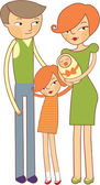 Young family — Stock Vector