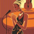 Jazz diva — Vector de stock #2438275